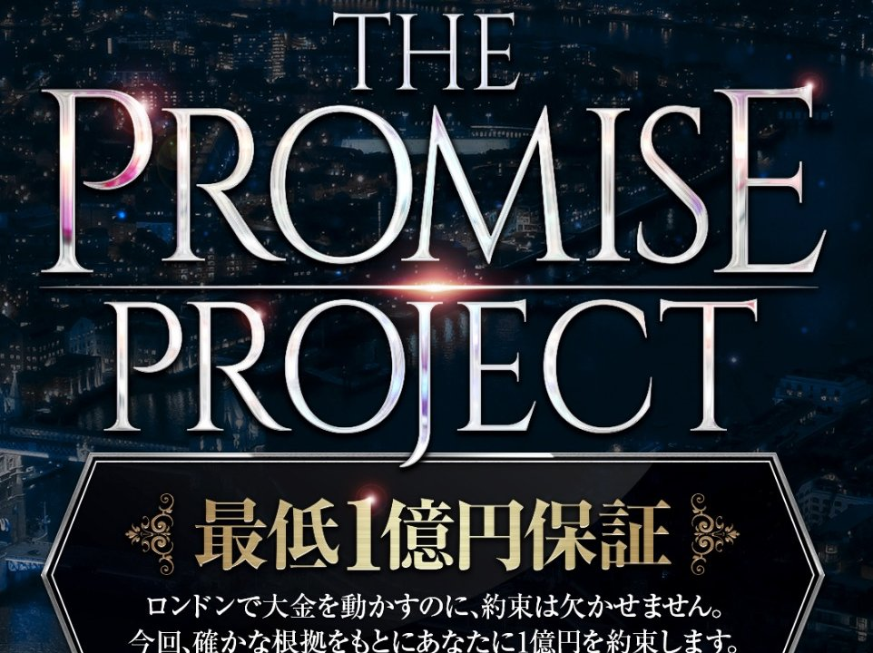 THE PROMISE PROJECT 山口幸助 詐欺 稼げる 評判 レビュー